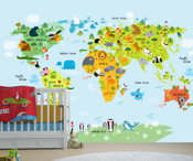 Adventure World Map Wall Mural 8999-1134