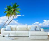 Beach Palm Tree Wall Mural