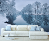 Winter Lake View Wall Mural
