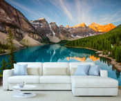 Mountain Lake View Wall Mural