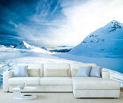 Snow Mountain Wall Mural