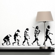 Darwin Evolution of Man Wall Stickers