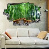 3D Broken Wall Forest Tree Wall Stickers 5302-1011