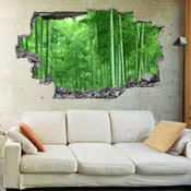 3D Broken Wall Forest Tree Wall Stickers 1015