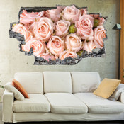 3D Broken Wall Autumn Tree Wall Stickers 1032