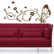 Butterfly Stem Wall Sticker