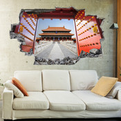 3D Broken Wall Beijing Forbidden City Wall Stickers 5302-1056