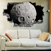 3D Broken Wall Space Galaxy Wall Stickers 1068