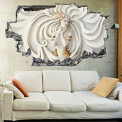 3D Broken Wall Medusa Luxury Modern Art Wall Stickers 1073