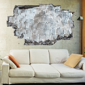 3D Broken Wall Moving Cubes Wall Stickers 1074