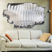 3D Broken Wall Effect Wave Wall Stickers 5302-1075