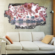 3D Broken Wall Flower Blossom Wall Stickers 5302-1077