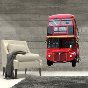 British London Bus Wall Stickers 9102