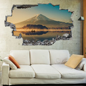 3D Broken Wall Mount Fuji Wall Stickers 1090