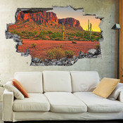 3D Broken Wall Canyon Wall Stickers 1093
