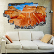 3D Broken Wall Canyon Wall Stickers 5302-1094