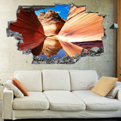 3D Broken Wall Canyon Wall Stickers 1095