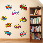Comic Book Wall Stickers 9110