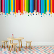Colouring Pencil Wall Stickers 9111