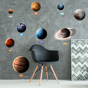 Educational Solar System Planets Wall Stickers 9115
