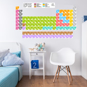 Educational Periodic Table Wall Stickers 9116