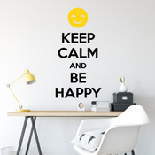 Keep Calm And Be Happy Wall Quote Stickers - 2090