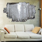 Copy of 3D Broken Wall Autumn Tree Wall Stickers 5302-1031