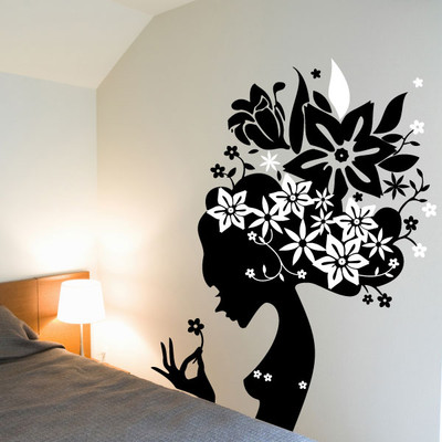 Lady girl wall sticker