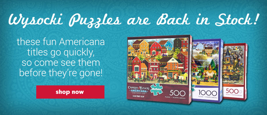 Wysocki Puzzles Back in Stock