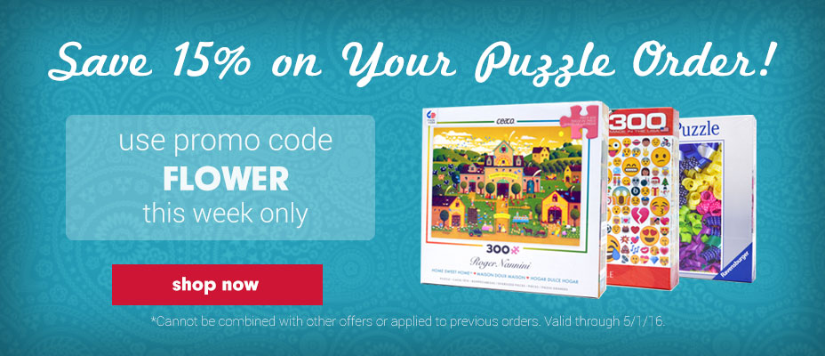 Save 15% on Jigsaw Puzzles