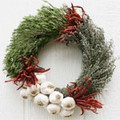 Holiday Garlic Wreath
