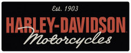 "H-D Harley Davidson Motorcycles 18"" x 7 1/8"" Sign"