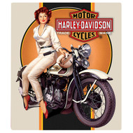 """H-D Dreaming Pin Up 13"""" x 15"""" Sign"""