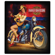 "H-D Playin Around Pin Up 13""x 15"" Sign"
