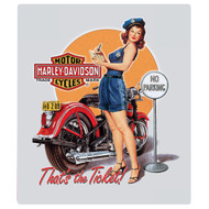 "H-D Ticket Pin Up 13"" x 15"" Sign"