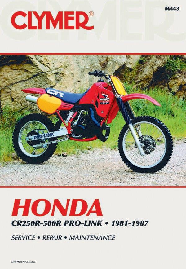 honda cr250r 500r pro link 1981 1987 clymer manual manual clymer rh performancecycle com 1987 CR250R 1986 CR250R