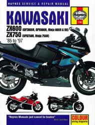 Kawasaki ZX600 & 750 Ninjas (85-97) Haynes Manual
