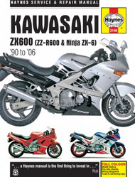 Kawasaki ZX600, ZZ-R600 & Ninja ZX-6 (90-06) Haynes Manual
