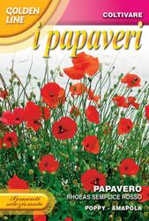 Poppy Rhoeas Single Red (341-2)