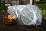 Easy Poly Tunnels warm the soil in spring and protect plants from freezing weather.