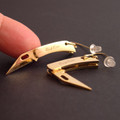 Gold Knife Earrings are really sharp!