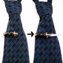 Working Mini Switchblade flick knife tie clip, men's accessory, men's fashion