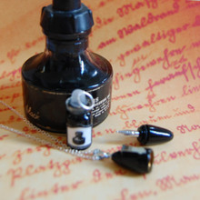 Mini Fountain Pen Necklace really writes!