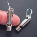 Tiny Working Vintage Silver Whistle Earrings
