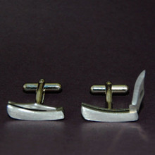 working stainless knife cufflinks really work