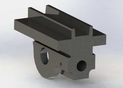 A12 Crosshead machined from cast iron block shown finished blocks sold as rough castings