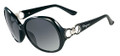 Salvatore Ferragamo Sunglasses SF602S 001 Blk 59MM
