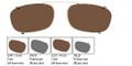 GIORGIO ARMANI 12 CLIP ONLY Sunglasses 06LB Ruthenium 53-20-140