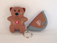 Image of CL-103 brown child locator tracker with LED light flashing