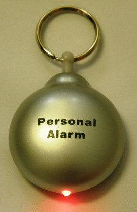 Silver Rip Cord Alarm, LED light flashes when the alarm is activated